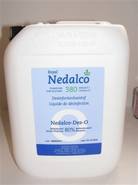 Nedalco Des O (alcohol 80%) 5000 ml can